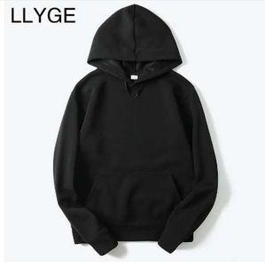 LLYGE Yeni Marka Erkekler Rahat Hoodies Streetwear Hip Hop Temel Tarzı Katı Kadın Kapüşonlu Tişörtü Hoody Sonbahar Erkek Hoodies