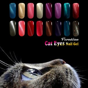 Vernice 3D Magnetic Cat Eye Gel Nail Polish Soak Off Gel Lacquer Glitter Charms Vernice di lunga durata Nail Art Polish