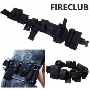 FIRECLUB Tactical Belt Belt Equipamentos Gun Coldres Bolsa De Segurança Da Polícia Guarda SWAT Utility Kit Law Enforcement
