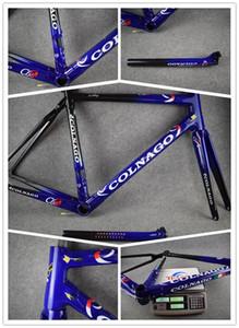 Açık Mavi C60 çerçeve karbon çerçeve kümesi yol bisikleti Çerçeve karbon bisiklet Siyah renk tasarımı framset kaliteli
