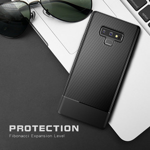 For Samsung Galaxy Note 9 S8 S9 Plus Carbon Fiber Shockproof Soft TPU Case Cover Anti-slip Fashion Luxury Phone Cases