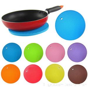 Çok fonksiyonlu Yuvarlak Silikon Kaymaz Isıya Dayanıklı Pot silikon masa paspaslar Coaster Yastık Yeri Mat Pot Tutucu Mutfak aksesuarları