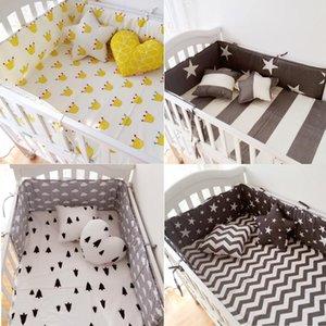 (1 pcs bumper apenas) Moda berço quente pára-choque infantil clauds / star / dot / tree, proteção segura para uso do bebê
