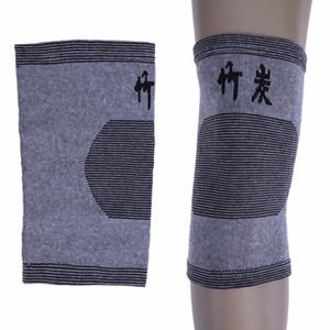 Новый Bamboo Эластичные наколенники для волейбола Thin дышащая Велоспорт велосипед Knee Brace Protector Теплый Kneepad поддержки спорта безопасности