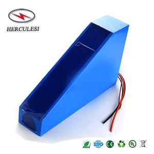 Треугольник батареи 48V 30ah литий-ионный аккумулятор сотового 18650 13S10P с 50А BMS для 1500Вт 2000Вт самокат электро мотор