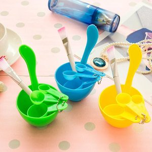 4 en 1 bricolage masque facial bol à mélanger brosse cuillère bâton outil soins du visage ensemble LJJN58