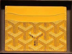 En kaliteli Paris tarzı lüks tasarımcı klasik ünlü erkek kadın ünlü hakiki deri gy kredi kartı tutucu mini cüzdan