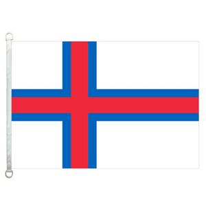 Bandiera delle Isole Faroe Banner 3X5FT-90x150cm 100% poliestere, 110 gsm ordito tessuto a maglia bandiera esterna