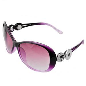 El diseñador más nuevo del botón a presión Gafas de sol de las mujeres de la manera de los gatos del verano ojo gafas de sol gafas Fit 18 / 20mm diy Snap JEwelry P00931