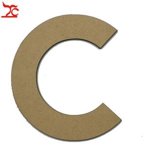 Creativo 20cm grande lettera in legno Parole fai da te in legno 26 lettere alfabeto Nome per negozio di gioielli Tag di marca o mostra amante espositore a muro Mensola Stand