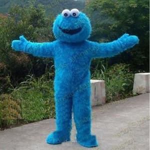 2018 Vente directe d'usine Sesame Street Cookie Monster Mascot Costume Fantaisie Party Dress Costume Livraison Gratuite