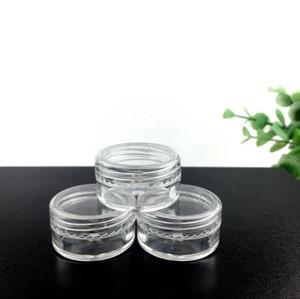 Sıcak Kapasiteli 5g Taşınabilir Plastik Kozmetik Boş Kavanoz Pot Göz Farı Makyaj Yüz Kremi Konteyner Şişe LX2783