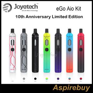 Joyetech eGo Aio Kit 10º Aniversário Edição Limitada All-in-One Dispositivo Estilo com Bateria de 1500mAh e 2ml e Liquid Authentic New Mix Colors