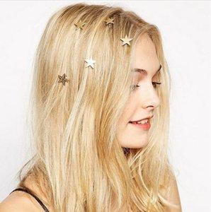 PINKSEE 12 Unids Boda Nupcial Pernos de Pelo Giros de Color Oro Estrella Remolino Espiral Clips de Pelo Accesorios de Joyería de Moda Tiara