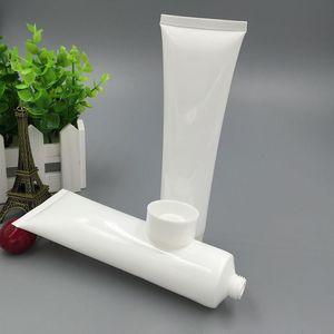 20 шт. / Лот 100 мл (г) пластик белый косметический крем для рук лосьон мягкие тубы контейнеры пустой образец упаковки LG100