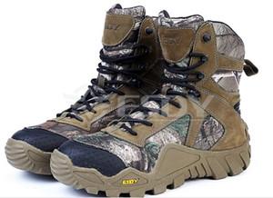 Ücretsiz Kargo Erkekler Açık Avcılık Kamuflaj Orman Erkekler Ayakkabı Askeri Botlar Kış Ayakkabı Erkekler EVA Kamuflaj Yürüyüş Ayakkabıları