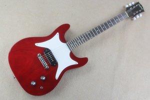 SG elektro gitar P90 pikap şarap kırmızı ahşap tahıl beyaz koruma plakası