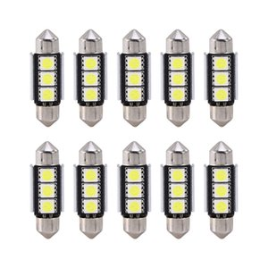 10PCS / Set Auto Auto 36mm CANBUS Fehler Free 3 LED 5050 SMD 6418 C5W License Plate Dome führte Glühlampe