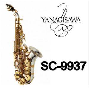 Nuevas marcas YANAGISAWA Saxofón soprano curvo SC-9937 Plateado Saxofón Saxofón Desempeño profesional Envío gratis