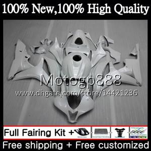 Корпус впрыска+бак для HONDA CBR 600RR 07 CBR 600 RR F5 07 08 60PG19 CBR600RR CBR600F5 жемчужно-белый CBR600 RR 2007 2008 обтекатель кузова