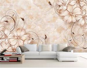 3D обои home decor Photo background Art Beach photography цветок мраморная ванная комната гостиная большая стена покрытие фрески-3d обои для рабочего стола