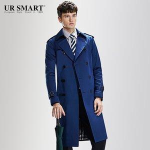 Étoile de demain Trench-Coat britannique de style coupe-vent pour hommes ultra long et ultra-résistant URSMART