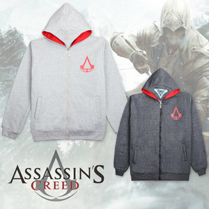 NEW Assassins Creed Hoodies Connor Kenway 코스프레 의상 남성 자켓 및 코트