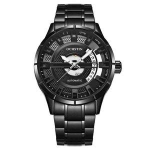 OCHSTIN Mode Freizeit Männer hohlen Kalender einfach leuchtend wasserdicht durch Bodenbewegung Business Luxus Geschenk Kleid mechanische Uhren