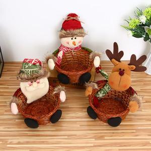 Décoration de stockage de bonbons de Noël Décoration Personnes Santa Claus Panier de stockage Cadeau Décorations de Noël pour la maison à 951