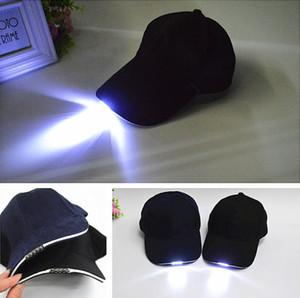 Cappucci della lampada LED Baseball Cap Camouflage Hip Hop Cappello autunno inverno Vai cappello di pesca esterna della squadra Equipaggiata Snapback incandescenza LED Sun cappelli di baseball