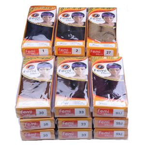 Capelli vergini brasiliani dall'aspetto naturale Capelli remy umani tessere chiusura Remi Femi 28pcs stile diritto 100% fasci di capelli umani vergini