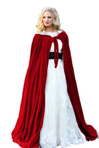 Blanc doublure Veste De Mariage Wraps Chaud Velours Sans Manches Capuche Capes Costumes d'Halloween pour Femmes Hommes Cosplay Cloak De Mariée S-6XL
