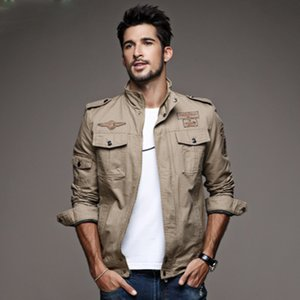 New Casual Casual Army Military Jacket Men Plus Size M-6XL Jaqueta Masculina Air Force One Spring Autumn Cargo Mens Giacche Cappotto