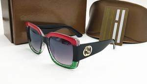 083 Diseñador de la marca 0083S Square Summer Style Mujeres Gafas de sol Mujer Marco completo Gafas de sol Protección UV Fahion Color mezclado Ven con la caja