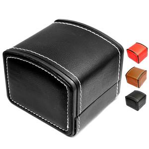 High Level PU-Uhr-Kasten Klassische Echte Leder multi Farben Arc Box Bestnote Uhrenbox