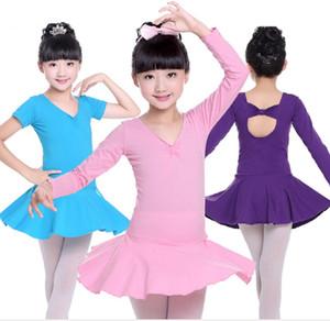 Body di danza classica a maniche lunghe da bambina, modello da ragazza di disegno di Bowknot