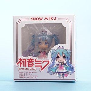 Anime Girl Figure Edición especial Snow Hatsune Q Version Clay Doll Miku Hatsune Future Anime Figura de acción Modelo