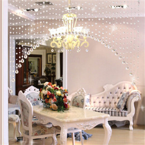 New 1pc one meters of crystal glass bead curtain curtain channel background DIY Home Furnishing wedding decoration