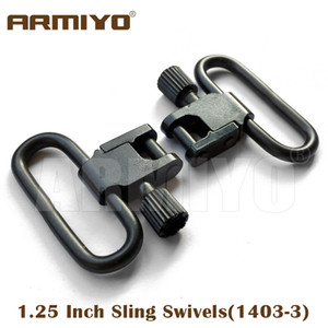 """Armiyo 1.25"""" 1.1 4"""" 32mm Hunting Rifle Gun Sling Swivels Fit with Quick Release Bases already mounted 1403-3"""