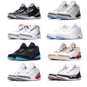 Nike air jordan retro 3 Neue Männer Basketballschuhe International Flug Pure White Schwarz Zement Korea Tinker JTH NRG Katrina Freiwurf Linie Feuer Rot Sport Sneaker