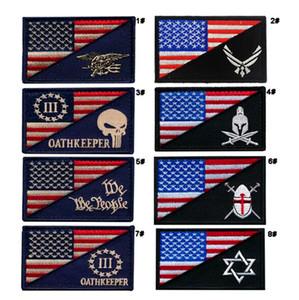 18VP-27 Hot venda Navy Seals Bordado patches táticos com vara mágica EUA bandeira Armband patches pode fazer logotipo personalizado