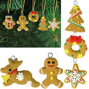 decoraciones de Navidad 6pcs, árboles de Navidad, copos de nieve suaves, animales viejos, hombre de pan de jengibre, accesorios de Navidad, pequeños accesorios wholesa