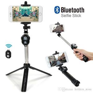 Hot Qualität faltbare Mini Selfie Stick Self Bluetooth Selfie Stick + Stativ + Bluetooth Shutter Fernbedienung für iPhone Android