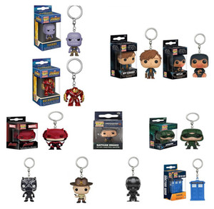 Funko POP Gxhmy Action FigurMarvel Mystery DoctoSuper Hero Harley Quinn Deadpool Goku Spiderman Joker Game of Thrones Figurines Toy Keychain