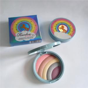 Nuovo trucco Effetto arcobaleno Highlioghter Strobe Glow premuto Powder 5colors in 1 palette Dropshipping di alta qualità
