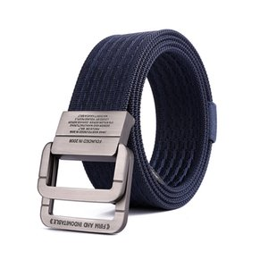 sell like hot cakes nylon canvas belt Men Double ring Buckle belt youth tide canvas Belt new style wholesale
