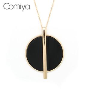 Comiya Big Pendant Necklaces For Women Zinc Alloy Chains Bijoux Femme Online Shopping  Accessories Long Necklace
