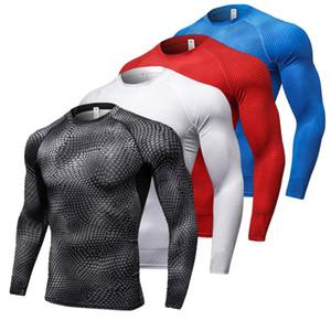 2018 Nouveau T-shirts Sport À Manches Longues Pour Hommes À Séchage Rapide Pour Hommes T-shirts Serpent Gym Vêtements Fitness Haut Hommes Rashgard Soccer Jersey
