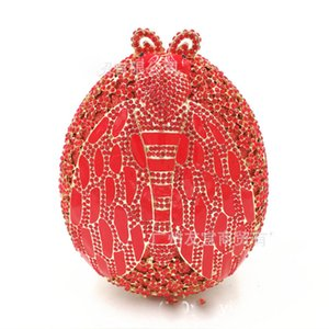 pink/red/yellow/green Rhinestones Women Evening Bag Beaded Diamonds Ladies Party Female Bag Small Day Clutches Shoulder Handbags
