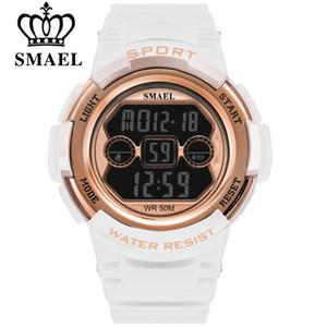 SMAEL Marca Eletrônico Relógio Do Esporte Mulheres Relógios Senhoras Relógio De Pulso Digital Para Feminino Relógio Multifunções Estudante relógios de Pulso